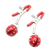 1 Pair Cute Strawberry Bells Nipples Clamps Flexible Adjustable Clip SM Sex Props Couples Flirting Erotic Toy Adult Product