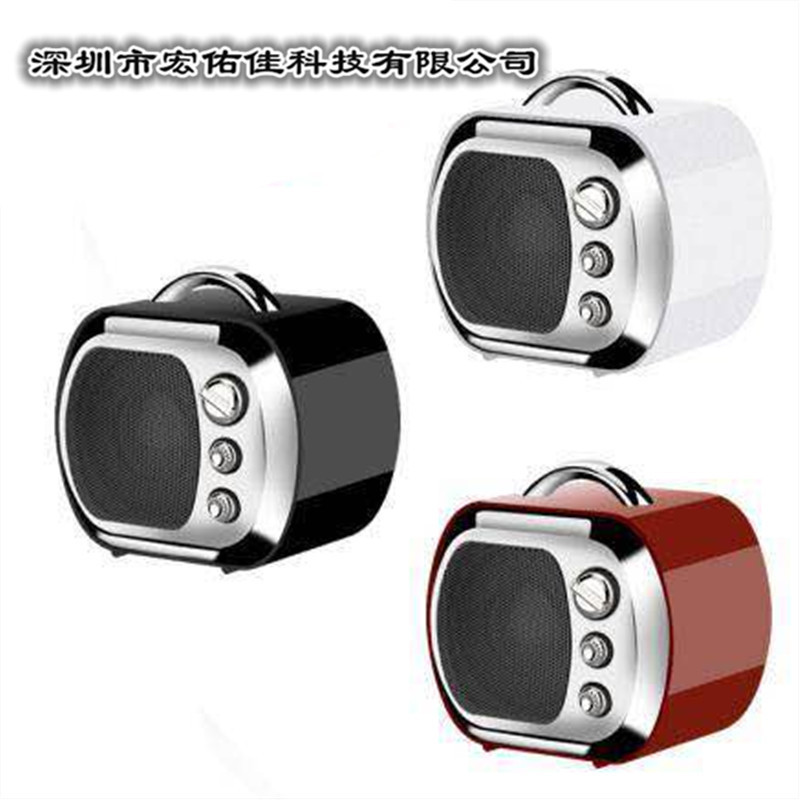 Small TV Bluetooth Speaker Outdoor Portable Mini Card Instert Vintage Ornaments Creative U14B Small Stereo Gift(China)