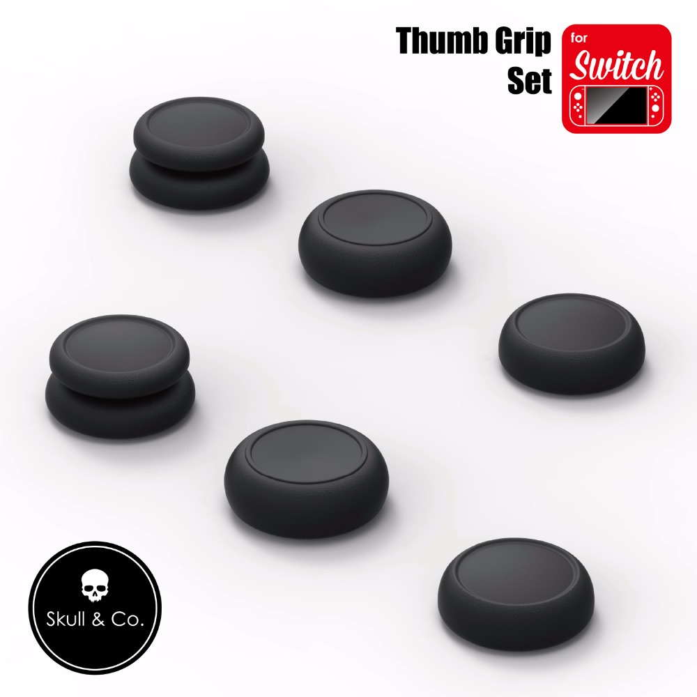 Skull & Co 6 in 1 Thumb Grip Set Joystick Cap Thumbstick Cover for Nintend Switch Joy-Con Controller 2pcs cute cat paw claw silicone analog controller thumb stick grips cap for nintendo switch ns controller joy con thumbstick