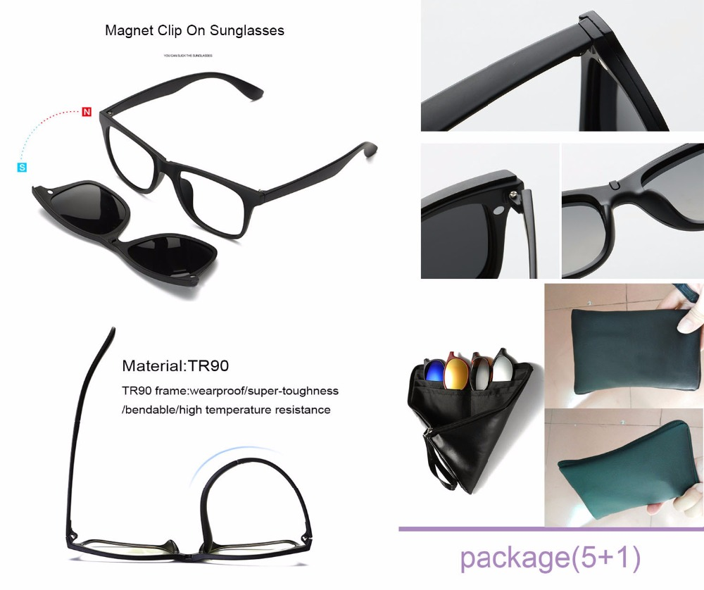 5 in 1 Magnetic Lens Swappable Sunglasses 1