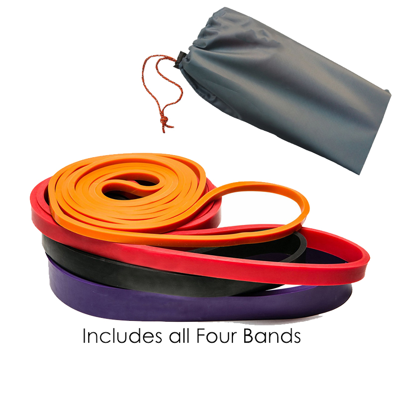 4Pcs/Set Fitness Rubber Pull Up Resistance Bands Power Latex Band Loop Strap Expander Hanging Workout Away With Storage Bag