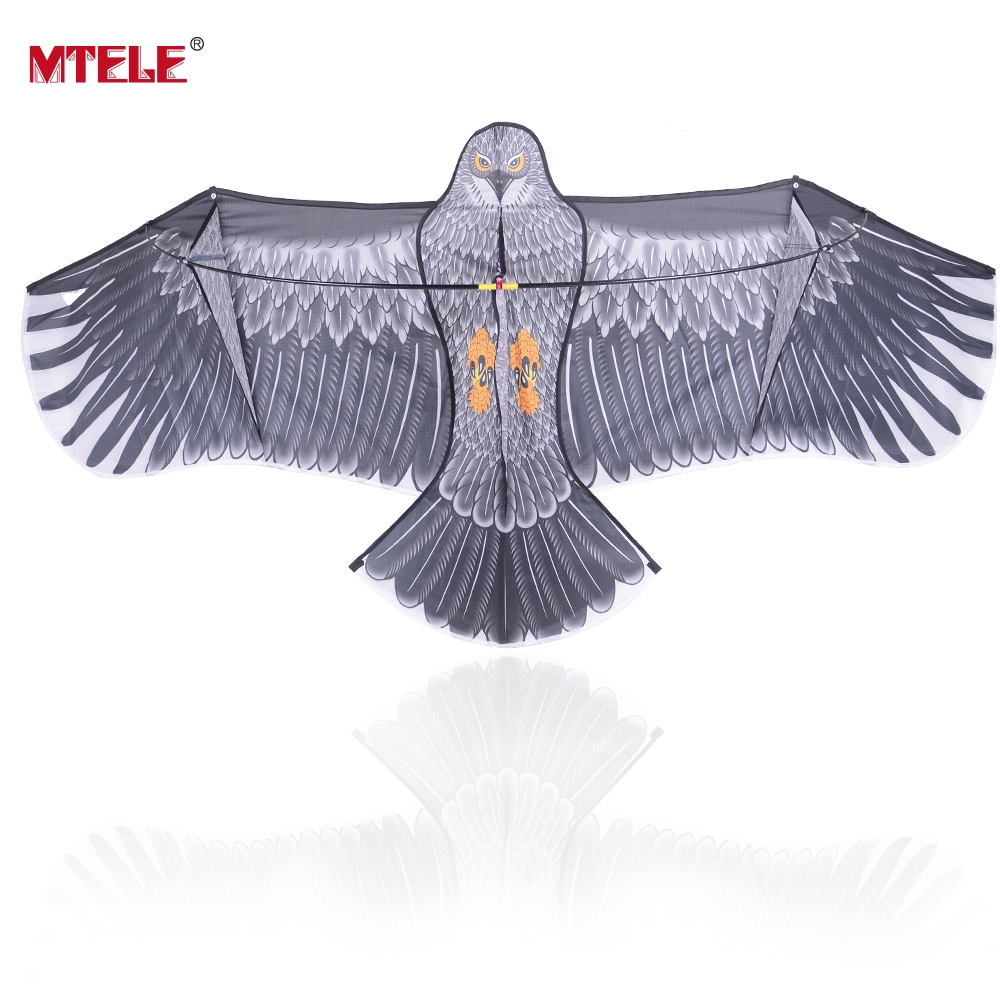 MTELE Brand Kite Toy Outdoor Fun Sports 3D Huge Eagle Kid Family Travel Tour With Flying Tools High Quality