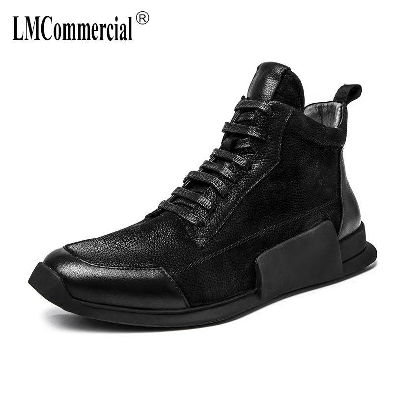autumn winter British retro men casual shoes all-match cowhide Genuine Leather Martin boots sneaker men's Chelsea boots 2017 new autumn winter british retro zipper leather shoes breathable sneaker fashion boots men casual shoes handmade
