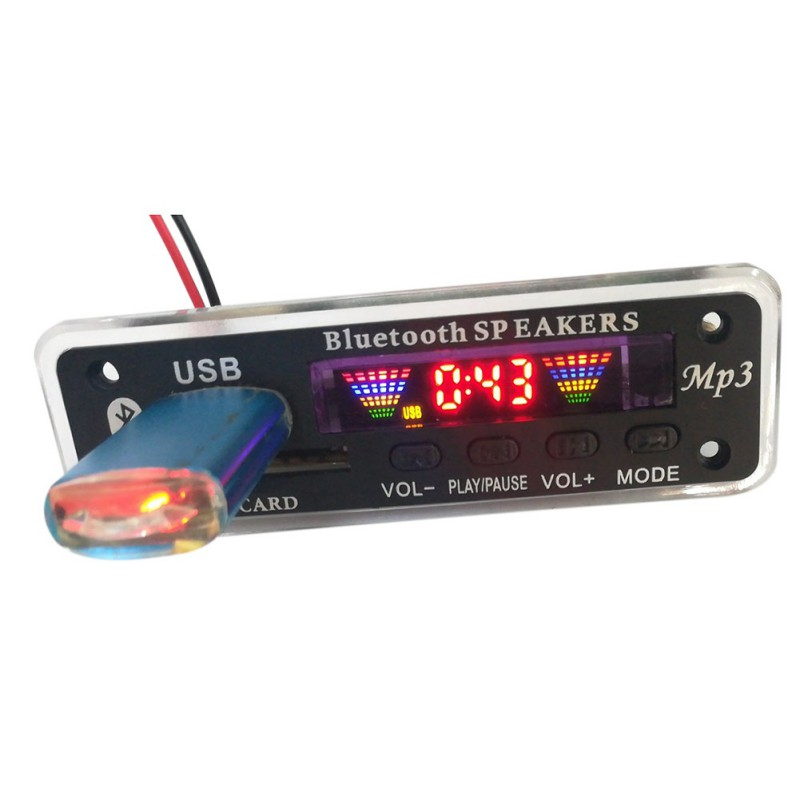 LED USB Bluetooth 5.0 Audio Lossless APE Module TF FM Radio Support Power-off Memory Playback Wireless 12V MP3 WMA Decoder Board