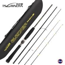 TSURINOYA แบบพกพา PARTNER 1.89 m 4 ส่วน 2 เคล็ดลับ UL/L Power Lure Fishing Rod คาร์บอนไฟเบอร์ Rod vara De Pesca Fishing Pole