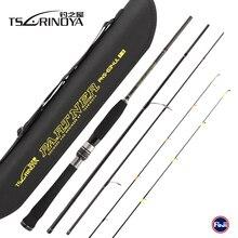 TSURINOYA caña De pescar De fibra De carbono, aparejo portátil, 1,89 m, 4 secciones, 2 puntas, UL/L