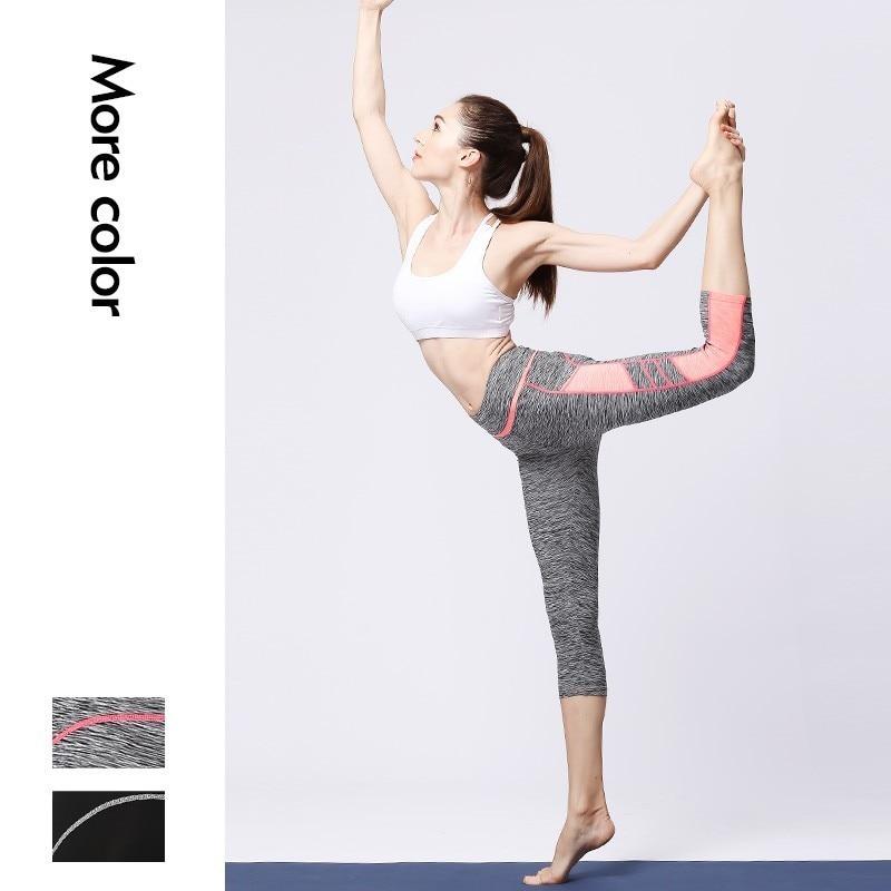 <+>  Женщины Спортивные Тренировки Талии Йога Брюки 2 Кармана Женская Талия Sexy Gym Yoga Спорт Бег Колго ★