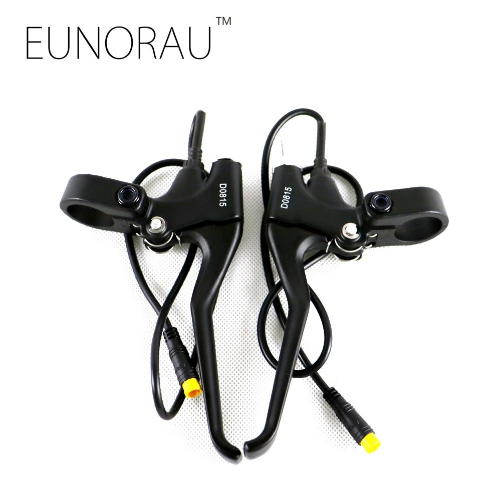 Free shipping 1 pair <font><b>electric</b></font> bicycle brake lever e <font><b>bike</b></font> power off brake handle lever
