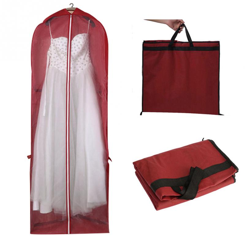 Wedding Gown Preservation Bag: Non Woven Fabric Wedding Dress Dust Cover With Zipper