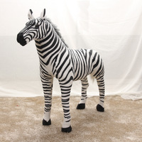 middle simulaiton zebra toy plush zebra model birthday, party gift about 42x55cm