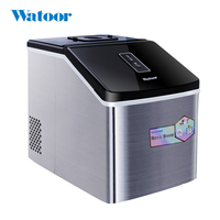 220V Electric Ice Maker Stainless Steel Manual Adding Water Household Or Commercial Ice Cube Machine EU/AU/UK/US Plug