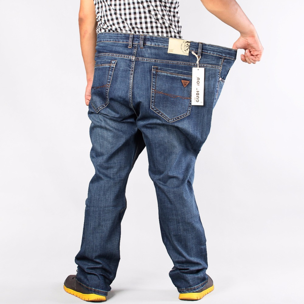 86 Brand Men Plus Big Size Pants 38 40 42 44 46 48 50 52 Mens jeans High Stretch Big and Tall Large Trouser Loose Jeans for Men