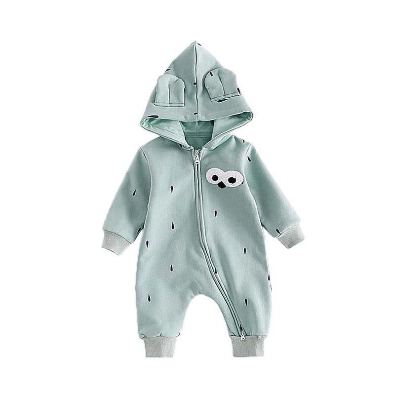 Fashion Baby Rompers Cotton Newborn Baby Girl Boy Romper Winter Overalls Hooded Clothing Warm Clothes Bebes Infantil Blue Pink