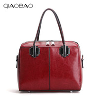 QIAOBAO 2017 Hot Sale Popular Fashion Brand Design Women Genuine Leather Cloe Bag High Quality Real