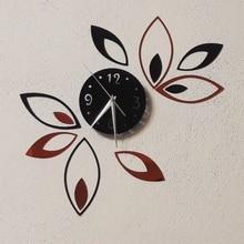 Leaves Shaped Mirror Wall Clocks