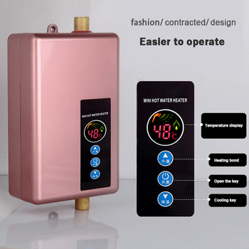 5500W Electric Water Heater Faucet Kitchen Household Bathroom Water Heater Instant Smart Speed Hot Calentador de agua Hot Shower