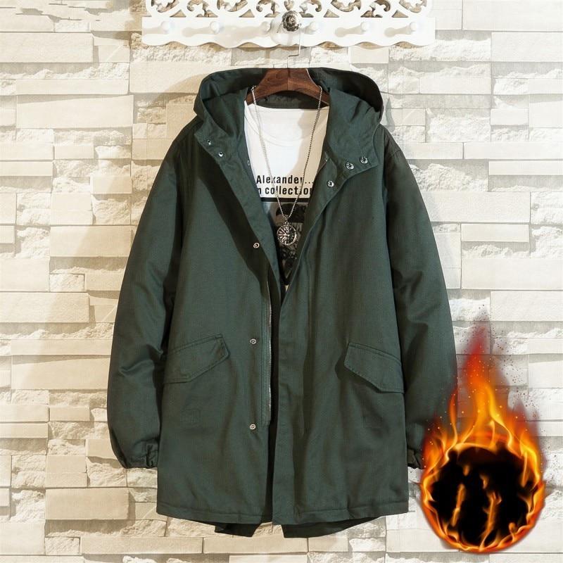 PLUS SIZE 10XL 8XL 6XL 5XL new arrival jackets men brand clothing autumn spring black hooded coat male top quality windbreaker - 5