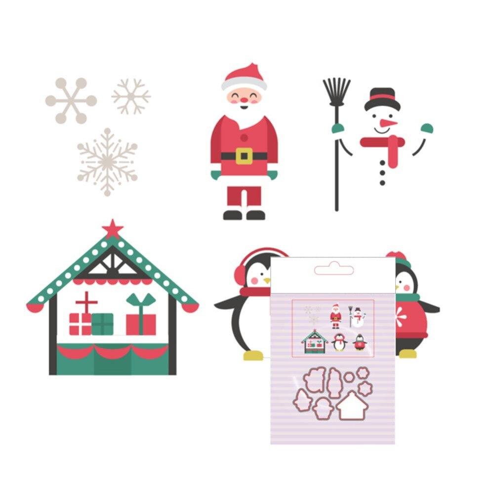 66.6x98.2mm Sharp Santa Claus Snowman Die Template Carbon steel ...