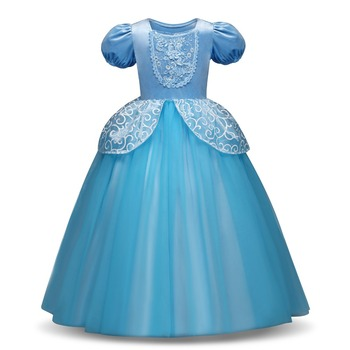d4341d23b Vestidos de Fiesta de Cenicienta con lentejuelas de verano para niñas y  niñas, vestidos de fiesta ...