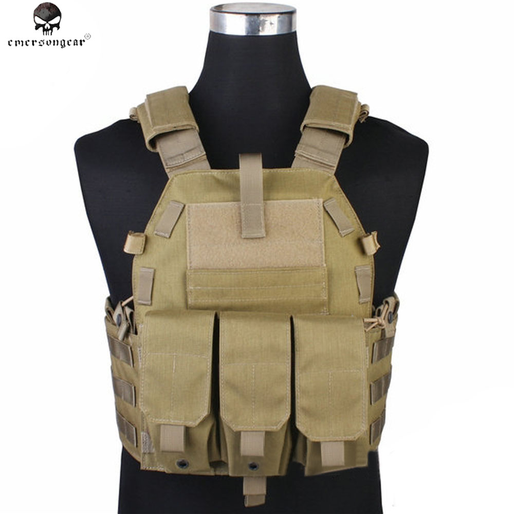 Emerson Camouflage Hunting Military Tactical Vest for Men Wargame Body Molle Armor Hunting Vest CS Outdoor Combat Equipment Vest 5 colors camouflage hunting military tactical vest wargame body molle armor hunting vest cs outdoor accessories