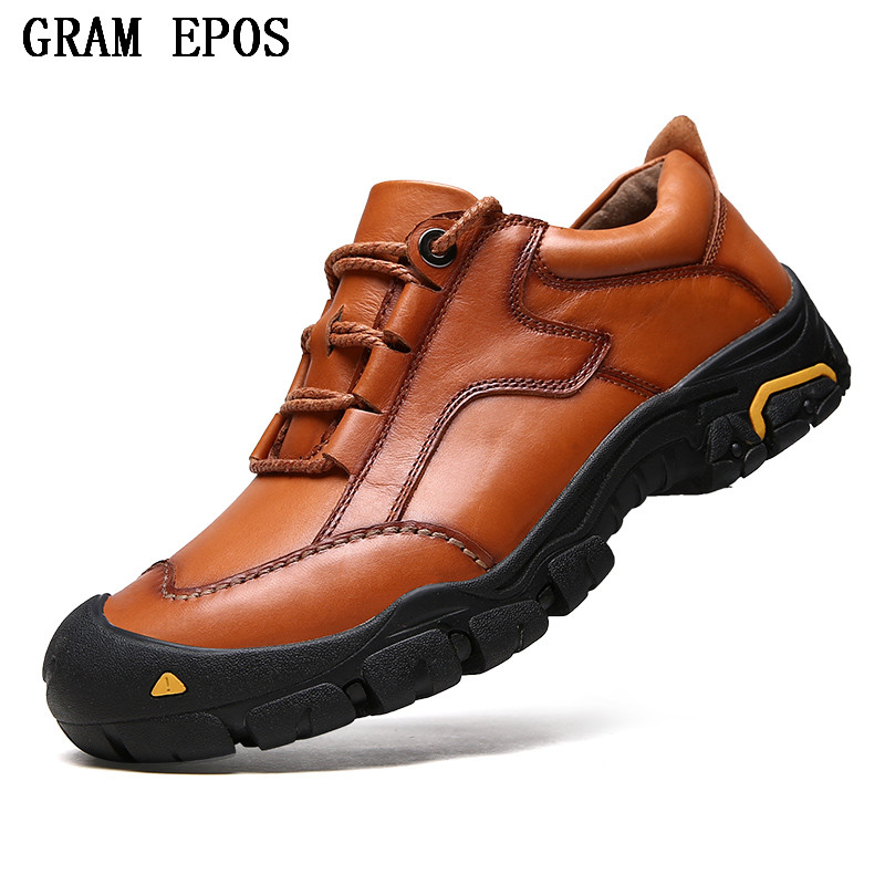 GRAM EPOS New High Quality Brand Men Genuine leather Loafers Casual Shoes Breathable Spring Autumn Outdoor Non Slip Oxford shoes new men s fashion casual shoes high quality genuine leather comfortable loafers for men flats shoes brand taima 40 45
