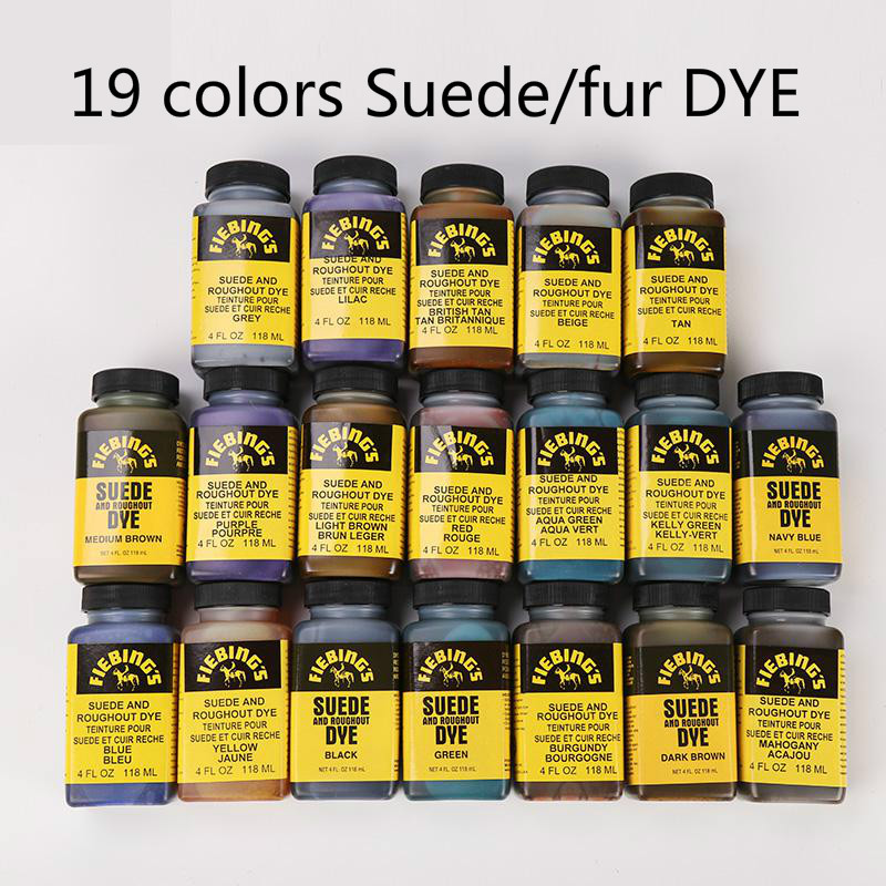 American Imported  19colors 118ml Suede  Fur Dye  Coloring Agent Dyestuff Pigments Diy Handmade Leather Color Changing