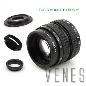 Image 3 - Venes 50mm f/1.4 CC TV F1.4 Lens for Nikon 1 M4/3 for Pentax Q Nex for Fuji FX EOS M A6300A5100 A6000 A5000 A3000 OM DE M10 II