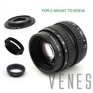 Image 3 - Venes lente de 50mm f/1,4 CC TV F1.4 para Nikon 1 M4/3 para Pentax Q Nex para Fuji FX EOS M A6300A5100 A6000 A5000 A3000 OM DE M10 II