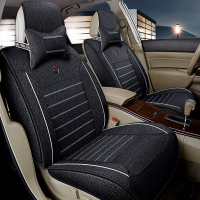 Flax universal car seat covers full surrounded seat for BMW e30 e36 e39 e46 e60 e90 f10 f30 x3 x5 x6 seat cushion car styling