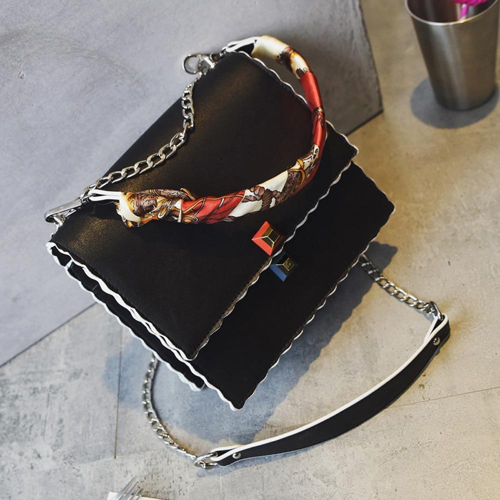 Kadın çanta Moda katmanlı Atkılar Zincir çanta Yüksek Kalite - Çanta - Fotoğraf 3