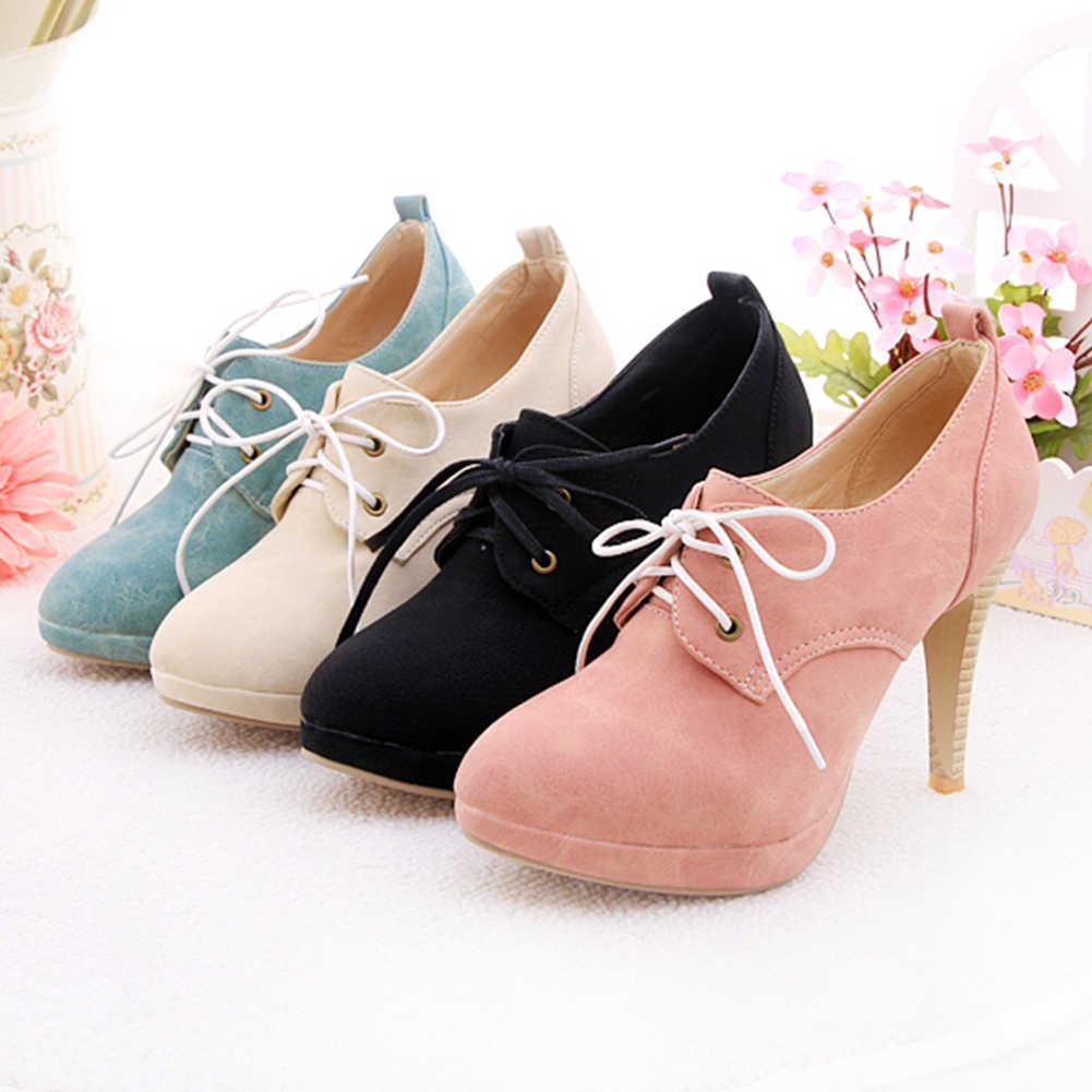 DoraTasia moda büyük boy ayakkabı bağı süper ince yüksek topuklu akın kapak platformu yarım çizmeler bayanlar için 2019 ayakkabı kadın 34-43