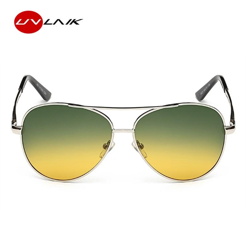 2365e094c9b UVLAIK Polarized Sunglasses Men Day Night Vision Driving Glasses Goggles  Women Yellow Green Lens Anti Glare Sun glasses-in Sunglasses from Apparel  ...