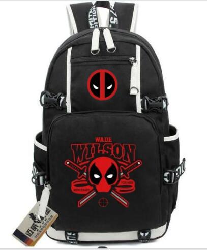 Deadpool Backpack Super Hero Shoulders Bag Boys Student School Bag Girl Rucksack