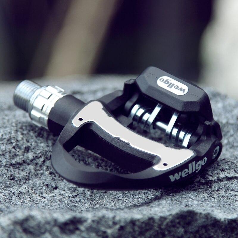 Pédales de vélo de route Wellgo en carbone Ultra-léger avec 3 roulements Look Compatible keo avec 2 paires de crampons pédale auto-bloquante