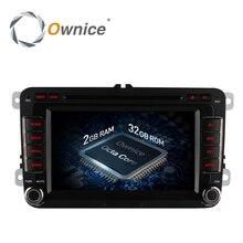Ownice Octa 8 Core Android 6.0 2G RAM Coche Reproductor de DVD para Volkswagen golf 4 5 6 touran passat B6 jetta caddy transporter t5 polo