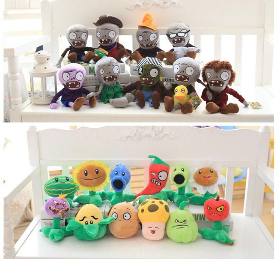9pcs 12pcs set Plants vs Zombies Plush Toys 30cm Plants vs Zombies Soft Stuffed Plush Toys Doll Baby Toy for Kids Party Gifts hot sale plants vs zombies cucumber plush toy doll game figure statue baby toy for children gifts party toys