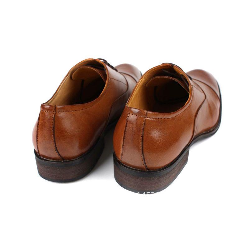 Itália Homens do Projeto Do Vestido de Casamento Sapatos de Couro Genuíno Homem Calçado Clássico Apontou Toe Sapatos de Negócios Formais New Oxford Chaussure - 2