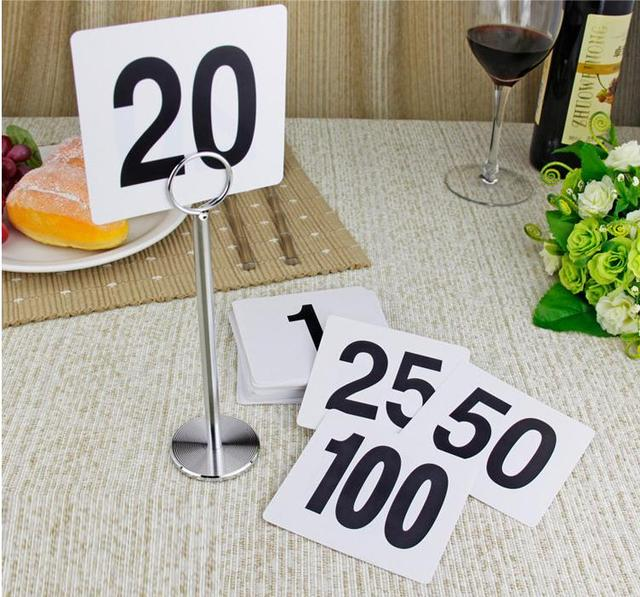 Superbe New 1 To 25 Table Number Plastic Table Number Cards Wedding Accessories  Decoration Digital Card Seating