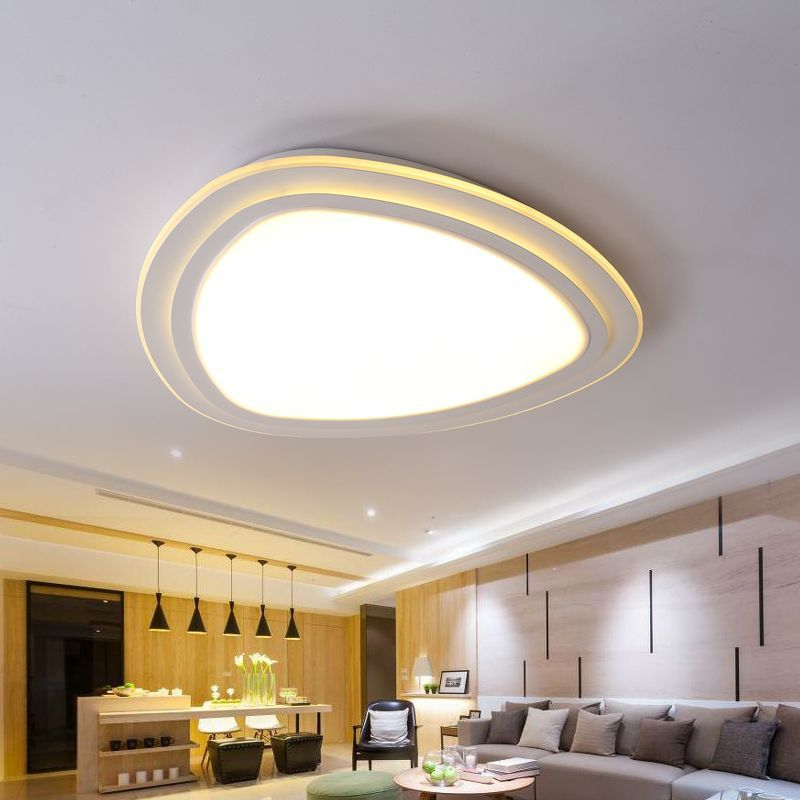 Remote Control Surface Mounted Modern led ceiling lights for living room bedroom led dimming ceiling lamp fixture black white modern led ceiling lights for living study room bedroom rectangle remote control dimming luxury ceiling lamp fixture