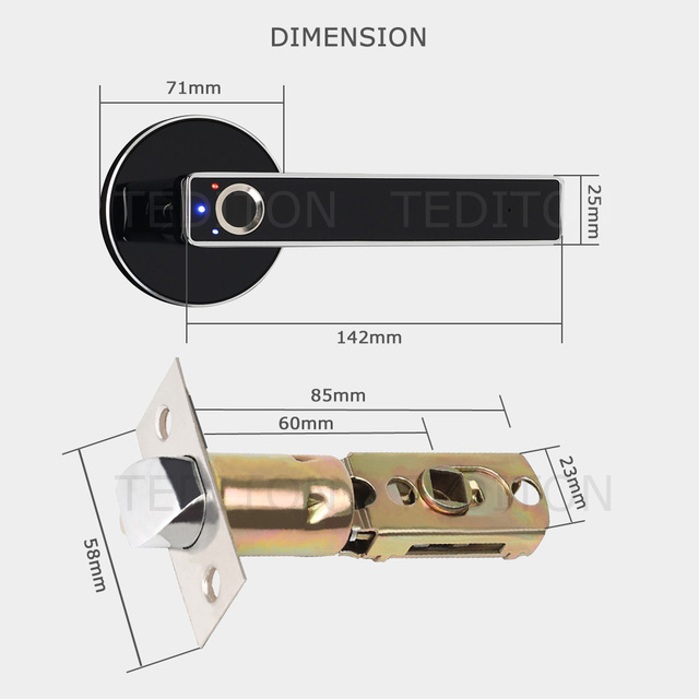 YRHAND Semiconductor Smart Door Lock with Fingerprint