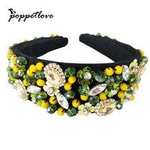 70g Baroque Luxurious Covered Rhinestone Crystal Headband for Women Bridal Hair Accessories Jewelry Bijoux Retro Headwear