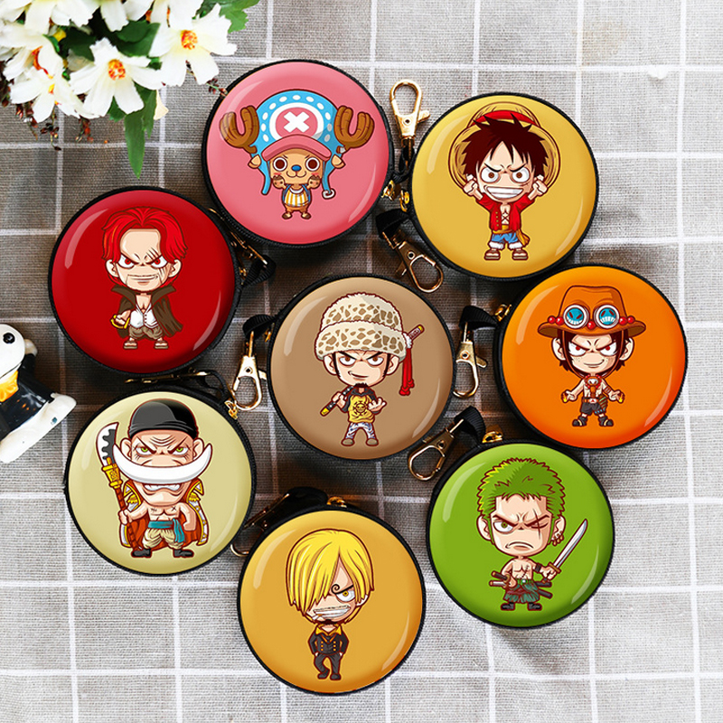 Multi-functional Storage Bag One Piece Cartoon Luffy Beautiful Shape Can Put Change Money Headset Data Line Childhood Memory Toy