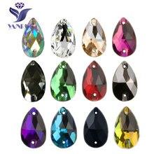 YANRUO 3230 goutte AAAAA qualité couture cristal Flatback strass coudre sur pierres verre pour robes vêtements bijoux