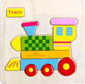 Wood transport three-dimensional jigsaw puzzle baby early lessons intelligence ordinary children's toys 1 pc