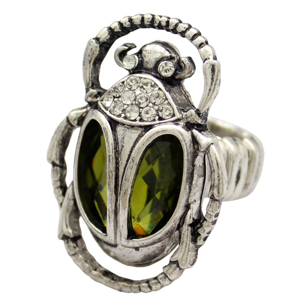 Cleopatra Vinage Egyptian khepri Scarab Beetle Warcraft Stone Overwatch Geometric Anime Ring Anillos Bague Indian Jewelry Men