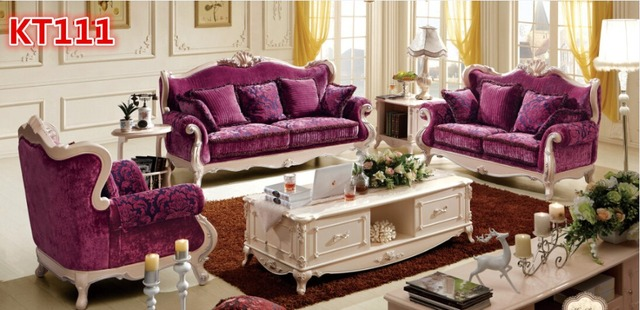Beautiful Antique Sofa Set 123 KT111 In Living Room