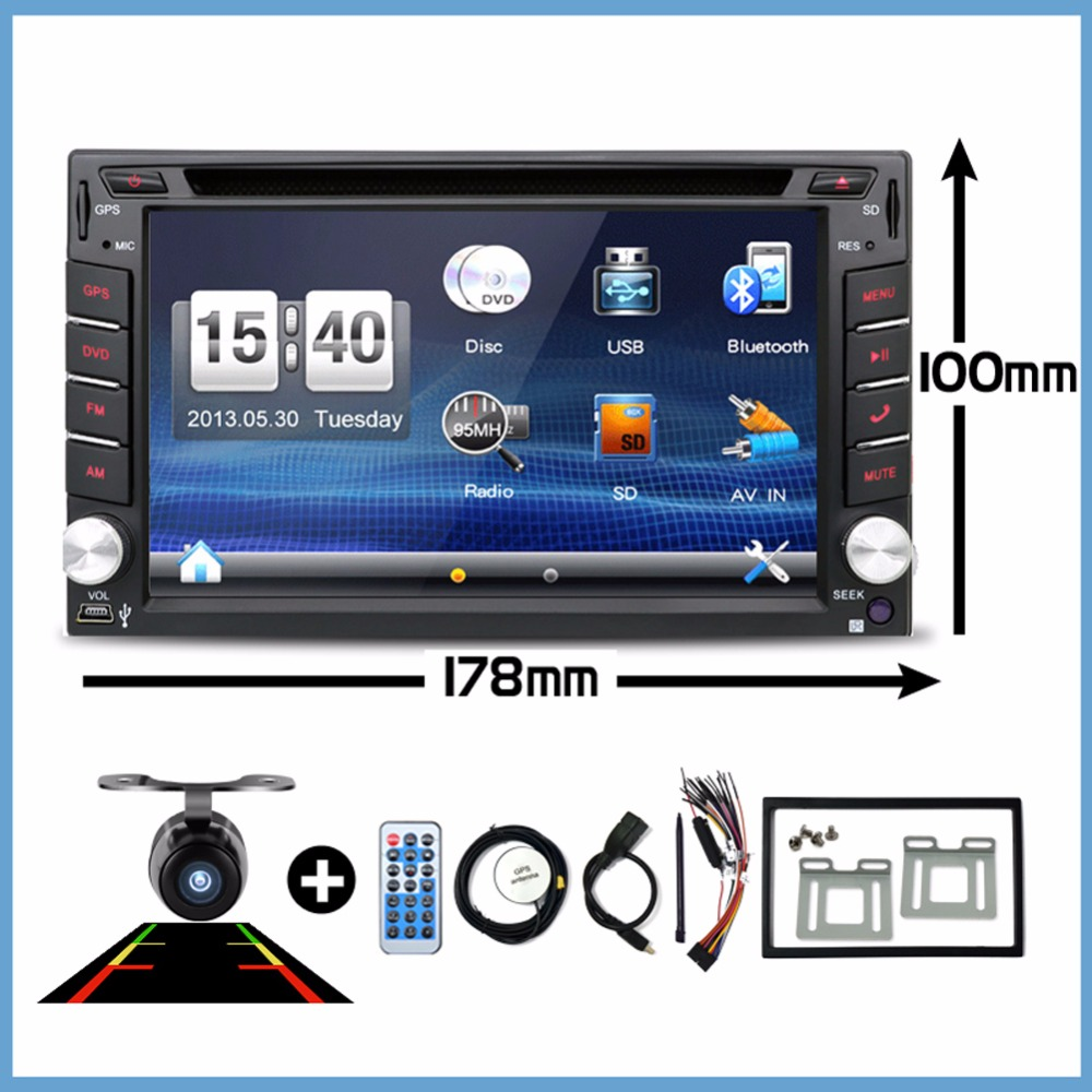 Car Electronic Double 2 Din Car DVD Multimedia Player Auto Radio GPS In Dash Car PC Stereo Video Free Map Free Camer RDS 178*100 2 din car dvd player monitor universal car radio gps auto 3g usb bt ipod fm rds in dash car pc stereo video audio camera for vw