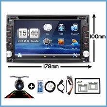 Electrónico del coche Doble 2 Din Car Multimedia Reproductor de DVD de Radio Auto GPS en El Tablero de Coches PC Envío Camer Video Libera El Mapa RDS Estéreo 178*100