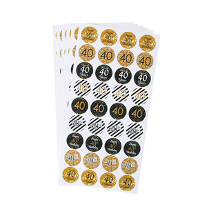 Image 3 - 6sheet 216pcs happy 30th 40th 50th birthday paper stickers cheer 30 40 50 years birthday sticker adult Anniversary party decor