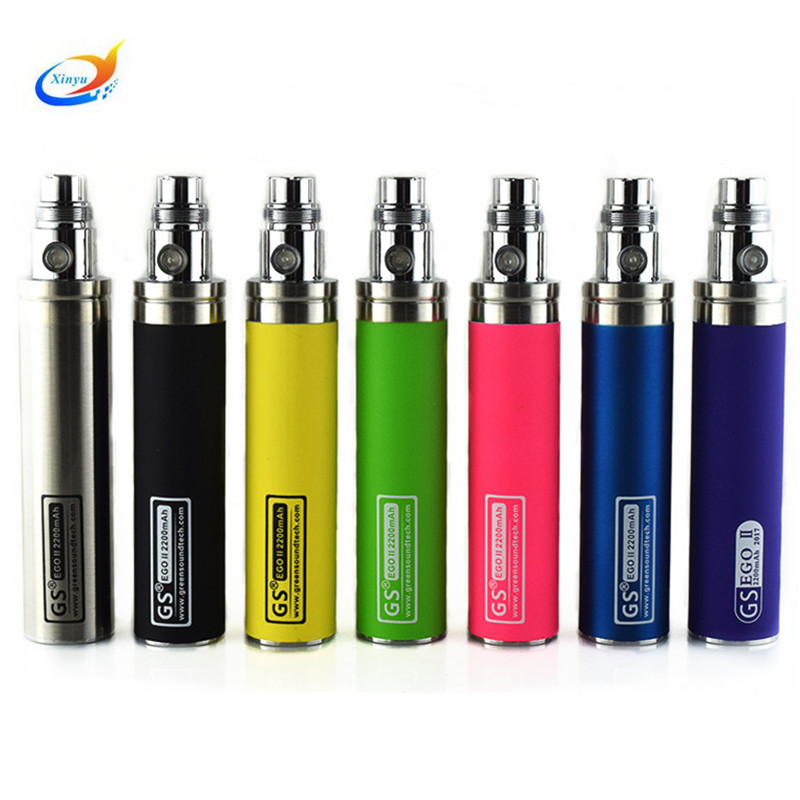 Colorful <font><b>2200mah</b></font> eGo <font><b>battery</b></font> Ego II week <font><b>e</b></font> <font><b>cigarette</b></font> <font><b>battery</b></font> for ce4 ce5 atomizer ego-t 510 thread ego <font><b>battery</b></font> image